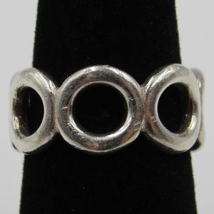Vintage Size 6.25 Sterling Odd Circles Band
